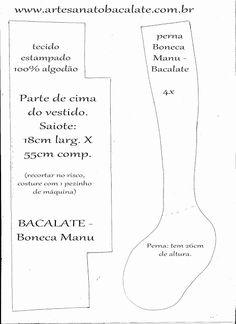 Como fazer BONECA de pano MANU Bacalate # 1 ~ BACALATE