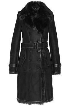 Burberry London|Belted shearling coat|NET-A-PORTER.COM