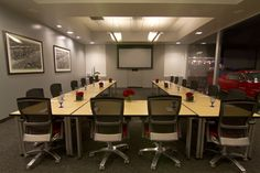 Our conference Room.  All Day rental.  Seating for 26-75   Full AV  Shades for Privacy  Catering options