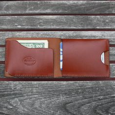 GARNY No.2 Minimalist Leather Wallet from by garnydesigns on Etsy