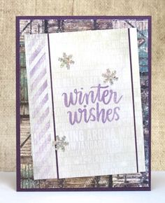 All Occasion Card Winter Wishes Snowflakes by doodleshop on Etsy