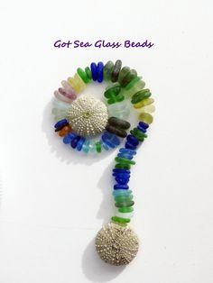 Sea Beach Glass Center Drilled Seaglass Beads 60. $32.00, via Etsy.