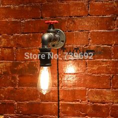 2015 RH Loft American Style Wall Lamp Vintage Water Pipe Lamps ...