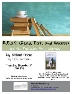 R.E.a.D. - My Brilliant Friend - Thursday, November 19 at 2:00pm
