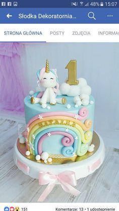 New unicorn birthday cake kids ideas - # unicorn cake cake . - New birthday cake unicorn kids ideas - Baby Birthday Cakes, Unicorn Themed Birthday, Unicorn Party, 1st Birthday Cake For Girls, Birthday Ideas, 17th Birthday, Disney Birthday, Unicorn Cake Topper, Unicorn Cakes