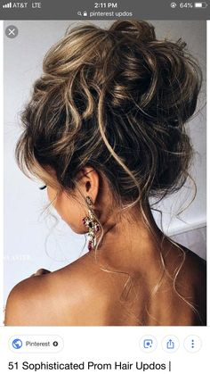 10 Pretty Messy Updos for Long Hair: Updo Hairstyles 2017 A hairstyle, hairdo, or haircut refers to Updos For Medium Length Hair, Prom Hairstyles For Long Hair, Short Hair Updo, Wedding Hairstyles For Long Hair, Messy Hairstyles, Formal Hairstyles, Bridal Hairstyles, Teenage Hairstyles, Curly Hair