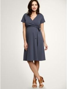 Lovely wrap dress for the mature mama