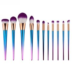 GUJHUI Beauty Fashion Pinceis De Maquiagem New Pro 11PCS  Make Up Foundation Eyebrow Eyeliner Blush Cosmetic Concealer Brushes