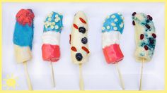 EAT | Frozen Bananas (Red, White and Blue!) - YouTube
