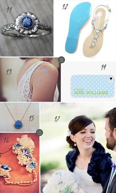 18 Modern Ideas for Something Blue via Emmaline Bride