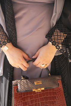abaya and handbag