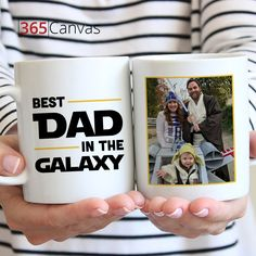 "It's tough to find a gift that gets your sentiments across just right, and it's even tougher to find a gift that appeals to the person receiving the gift! If your dad is a Star Wars fan and you want to show him how special he is to you, this ""Best Dad in the Galaxy"" mug is a great option for a present for occasions like Father's Day or birthdays.   #giftsforfather#giftsformen#giftsforhim#fathersday #fatherday#giftsforfathers"