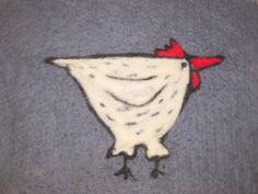 Filtet sitteunderlag høne 1 Leaf Tattoos, Rooster, Design, Roosters, Design Comics