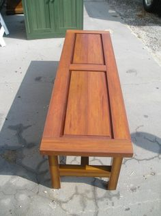Custom raised panel bench...perfect for your outdoor seating. #resort #hospitality #madeinusa #outdoorseating Wood Furniture, Outdoor Furniture, Raised Panel, Outdoor Seating, Bench, Chair, Table, Timber Furniture, Benches