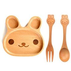 Feeding Bamboo Eco Baby Bowl Spoon Fork Set Giraffe Aromatic Flavor