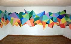 cool geometric mural - Google Search