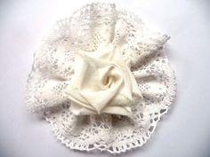 Shabby Blume Vintage Nostalgie Spitze Geburt Hochzeit Verzierung Handarbeit