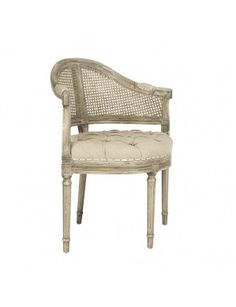 Blue Occasional Chair, Tufted