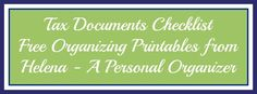 Have your tax documents checklist handy and be ready for taxes every year. No stress, no complicated lists!