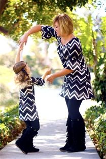 Mommy and me matching tunic in Infant's 0-6 months to Women's 3XL