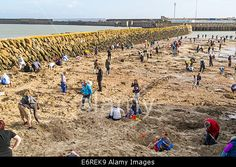 Folkestone, United Kingdom. 29th Aug, 2014. German artist #MichaelSailstorfer has buried 30 gold bars that are worth a total of £10,000 in the outer harbour area of Folkestone. The treasure hunters are allowed to keep any gold that they find. The 'artwork' is known as #FolkestoneDigs. © Stephen French/Alamy Live News