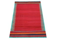 Turkish Traditional Kilim Rug 65 x 42 Feet by kilimwarehouse Handmade Pillow Covers, Tribal Rug, Kilim Rugs, Cool Stuff, Stuff To Buy, Beach Mat, Oriental, Outdoor Blanket, Carpet