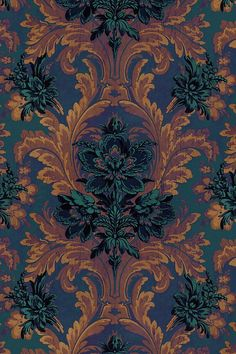 House of Hackney Amarantha Wallpaper Fall Backgrounds Iphone, Iphone Wallpaper Fall, Halloween Wallpaper Iphone, Aesthetic Iphone Wallpaper, Aesthetic Wallpapers, Wallpaper Backgrounds, Pattern Wallpaper Iphone, November Wallpaper, Witchy Wallpaper