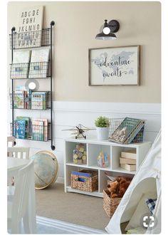Playroom book storage