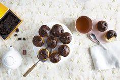 Glutenfrie muffins med mokkaglasur Fruit, Food, The Fruit, Meals, Yemek, Eten
