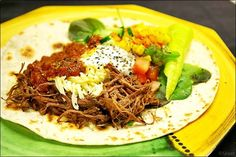 Pulled högrev i Crock-Pot, tacos / wraps i sikte