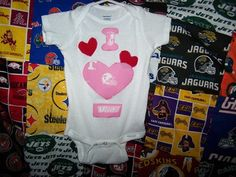 Tennessee Vols College Football Team Pink Baby by HodgePodgeBaby, $15.00