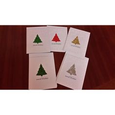 """This beautiful set of Handmade Christmas Greeting Card a Christmas tree design, giving focus to the Christmas arrangement.All of the cards have envelopes.All of the standard greeting cards are verse inside and have a greeting message on the front """"Merry Christmas"""".The cards measure is a C6This beautiful set of Handmade Christmas Buy it now $5.00 and would be lovely for sending to Family and Friends this Christmas.Thank you for looking at Handmade Cards by Jacqueline.Verses:.War..."""
