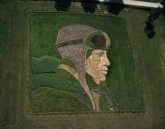 Kansas-based artist Stan Herd makes large scale works of art using the earth as his canvas.