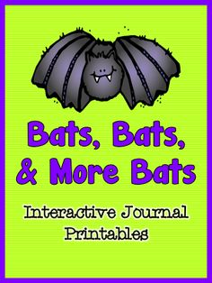 A bat unit is so versatile!  You can incorporate it with your Halloween lessons.  Are you not allowed to celebrate Halloween?  Lessons about bats are a fun way to incorporate some seasonal fun that isn't Halloween.  Is your class studying mammals?  The informational text printables in this packet will enrich your lessons.  $