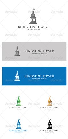 Kingston Tower by baywo Logo that will good for any Realty, property and real estate related company. Logo 100 vector easy to edit. font: http://www.ufon