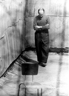 Jerusalem, Israel, Eichmann in his jail cell, during his trial. He went to his death feeling good about the work he did with Hitler to exterminate the Jews. He was sent to Israel when he was caught hiding out in the 60's.  He was placed in a bullet proof glass box during his court hearings. He had voiced no regret. Pure evil in this man