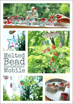 Make a melted bead suncatcher mobile!