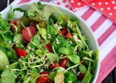 Napraforgós vegyes zöldsaláta recept
