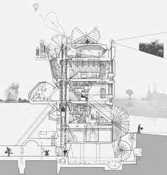 Marvelous Home Design Architectural Drawing Ideas. Spectacular Home Design Architectural Drawing Ideas. Architecture Design, Famous Architecture, Architecture Graphics, Concept Architecture, Architecture Drawings, Landscape Architecture, Kinetic Architecture, Architecture Collage, Architecture Student