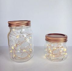 Gorgeous Kilner Night Light!  Batteries are INCLUDED within a small battery box that is discreetly hidden within the lid so no wires are sticking out! Very easy to use, simply flick the switch to on or off and it can light up to 48 hours (Perfect party decoration)   PLEASE READ: The battery packs are attached to the inside of the lids using a pretty tape, so that it is easier to change the batteries once finished or to change the lights all together. And additionally so that the jar can be…