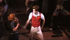 Dancing through life- featuring Aaron Tveit and his godly dancing skills (GIF) This will never not be funny!