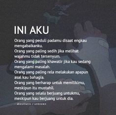 Inii aku... Quotes Rindu, Quotes Lucu, Cinta Quotes, Quotes Galau, Text Quotes, Poetry Quotes, Wisdom Quotes, Daily Quotes, Words Quotes