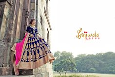 ♥ Like And Share Page to Stay Updated With New Designs ♥ ♥ Stitching And Worldwide Shipping Available Visit Website /Contact/What App or Viber at M: Indian Dresses, Indian Outfits, Blue Dresses, Lehenga Wedding, Bridal Lehenga Choli, Bollywood Lehenga, Blue Lehenga, Ethnic Wear Designer, Indian Ethnic Wear