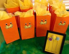 Lorax inspired gift bags