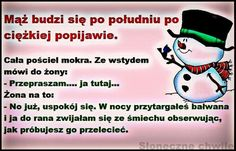 Mąż budzi się Funny Quotes, Funny Memes, Jokes, Polish Memes, Weekend Humor, Smile Everyday, Personal Development, Humor, Marriage