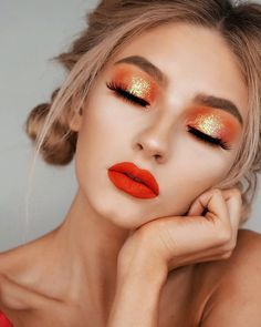 21 for Thanksgiving Dinner Make Up Ideas Orange makeup ideas dinner - Makeup Ideas Makeup Hacks, Makeup Trends, Makeup Inspo, Beauty Makeup, Hair Makeup, Makeup Ideas, Glam Makeup, Makeup Tutorials, Makeup Style
