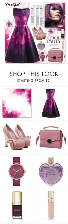 """Rose gal. Elegant party."" by natalyapril1976 ❤ liked on Polyvore featuring Nixon, Vera Wang, Dolce&Gabbana, Smith & Cult and vintage"