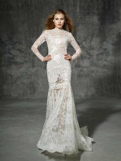vestido de noiva SICILIA de yolancris boho folk 2016 estilo sereia e manga comprida