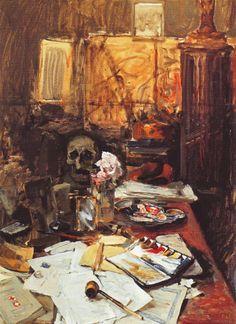AKSELI GALLEN-KALLELA  Studio Still Life (1889)