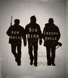 "#Supernatural .. Jensen Ackles ""ken doll"" .. Jared Padalecki ""big bird"" .. Jim Beaver ""creepy uncle"" <3"